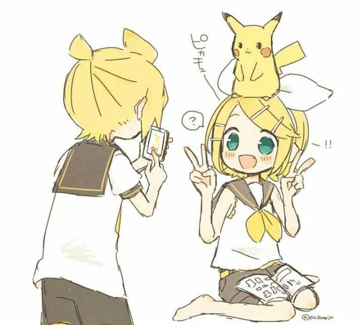 Hatsune Miku And Len Kiss