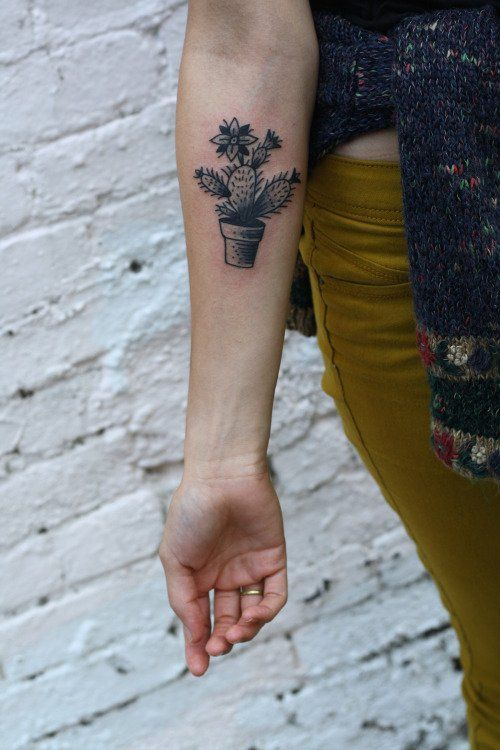 Cactus Tattoo by Ryan Jacob Smith