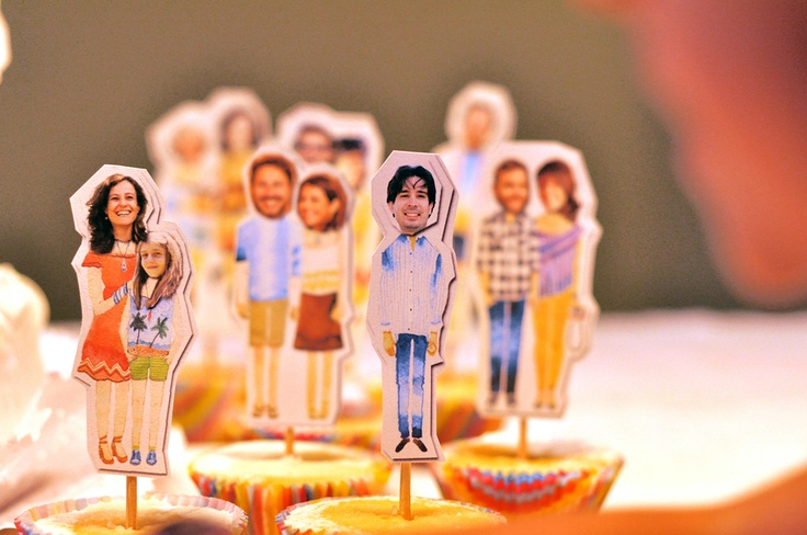 Donkey and the Carrot: Awesome ideas: Personalized cupcake toppers! Φανταστική ιδέα: Cupcake toppers με χαρακτήρα!