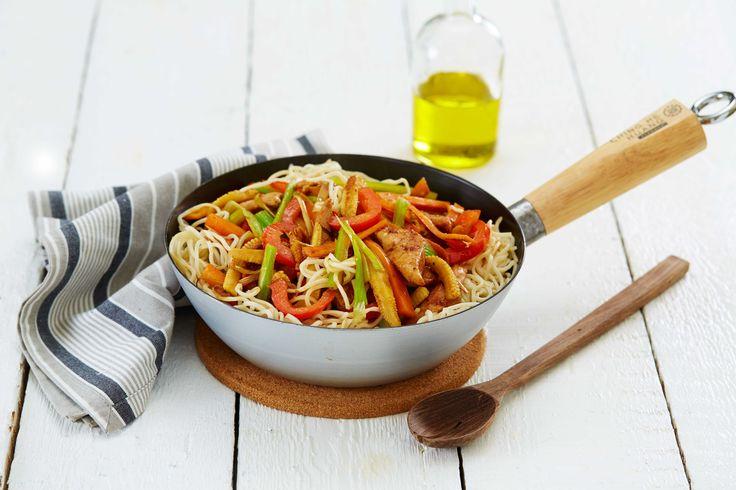 Lekker og lett grønnsakswok kan serveres som den er, eller som tilbehør til kjøtt- og fiskretter.