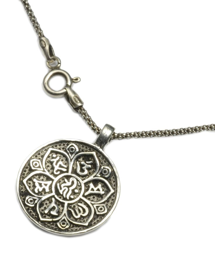 Elegant Buddha Heart Om Mani Padme Hum Mantra sterling silver Pendant Necklace -Fortune buddhist Jewelry: Frank's De Art: Amazon.co.uk: Jewellery