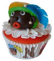 Zwart Piet cupcake sinterklaas