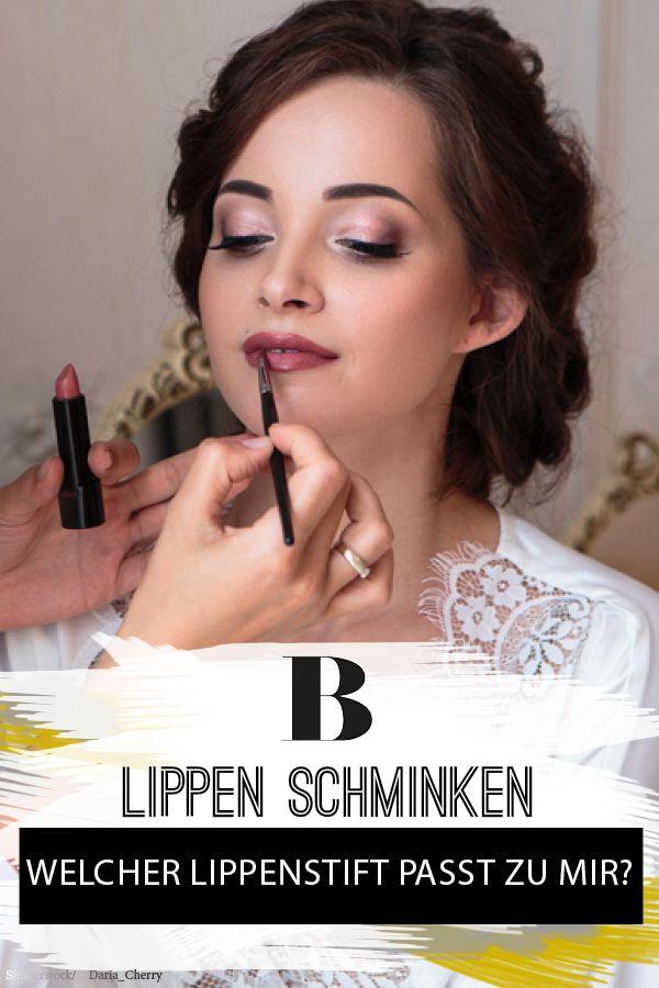 Welcher Lippenstift Passt Zu Mir Braut Make Up Pinterest