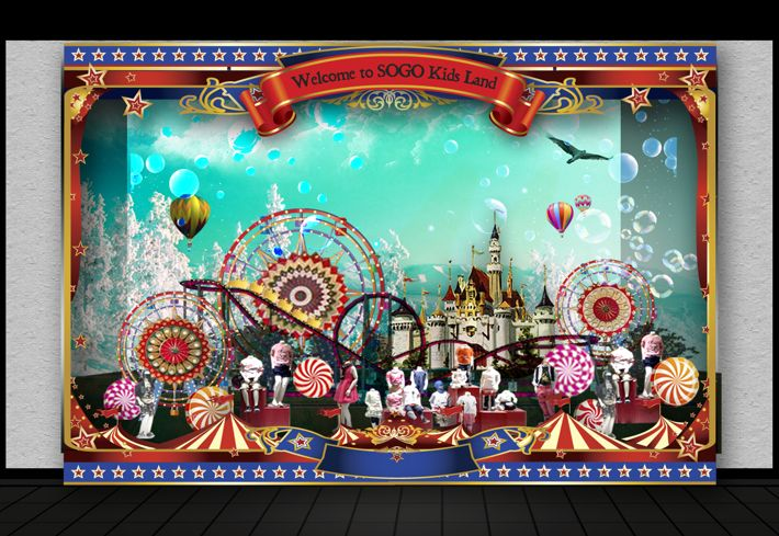 Window Display Themepark Concept for SOGO Dept.Store by ahmad, via Behance