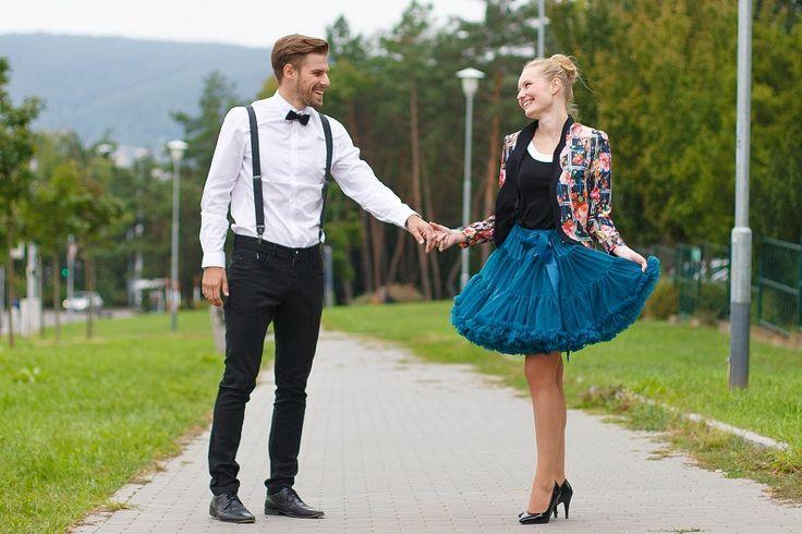 DOLLY Modrý Ptáček PETTI sukně - PoshMe.cz