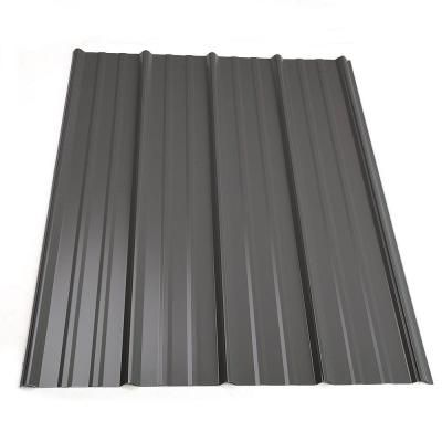 Metal Sales 10 ft. Classic Rib Steel Roof Panel in Charcoal - 2313317 at The Home Depot