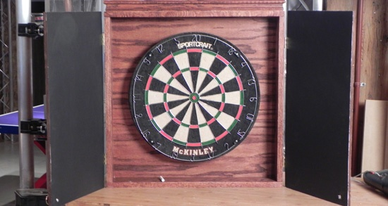 1000 images about dart board on pinterest basement game for Diy dartboard lighting