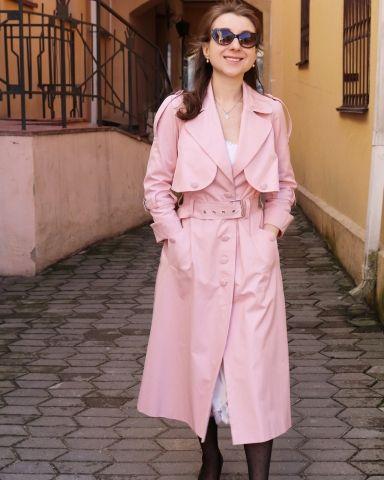 плащ, красивый плащ, купить плащ, розовый плащ, розовый плащ ульяна сергеенко, красивый плащ, стильный плащ, raincoat, pink raincoat, пошив плаща, швейное ателье минск,  женский плащ, купить женский плащ