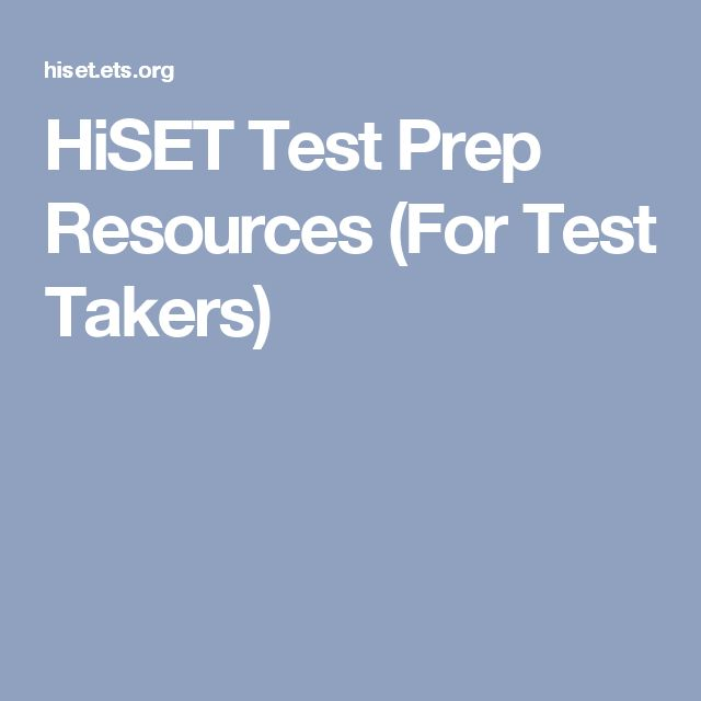 HiSET Test Prep Resources (For Test Takers)