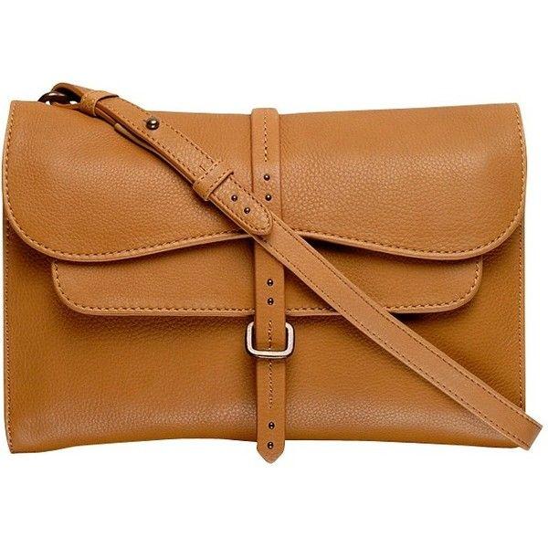 Radley Grosvenor Medium Across Body Bag ($170) ❤ liked on Polyvore featuring bags, handbags, shoulder bags, tan, leather crossbody purse, brown leather crossbody, leather crossbody, brown satchel and brown leather handbags