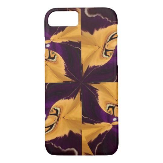Yellow - Purple Flower Pattern iPhone 7 Case