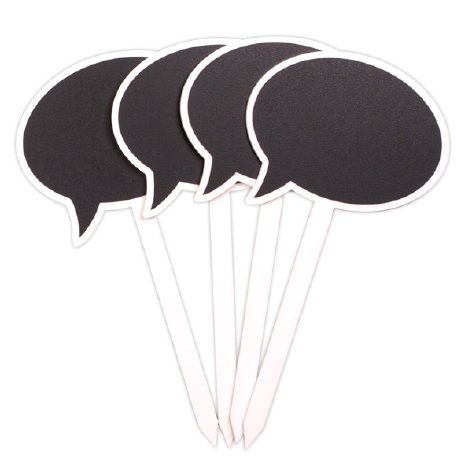 Chalkboard Speech Bubble Garden Stakes: $20 / Set Of 4. Make Your Own With  Chalkboard Paint! | Cool Ideas | Pinterest | Garden Stakes, Chalkboards And  ...