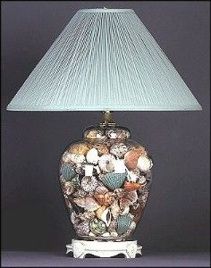 Medium Beanpot Seashell Lamp