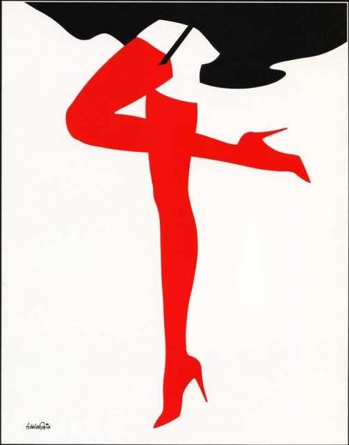Amleto Dalla Costa illustration from the 80s
