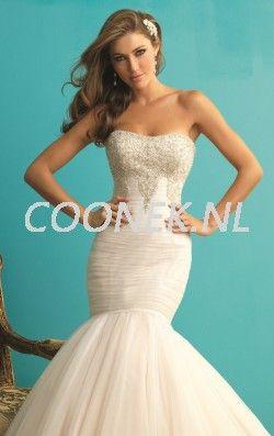 Kralen zeemeermin jurk van Allure Bridals