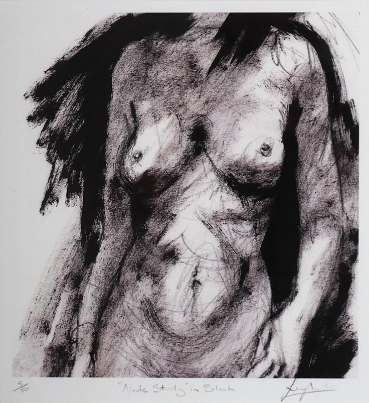 Leigh Carbines - Nude Study in Black Print 5/50