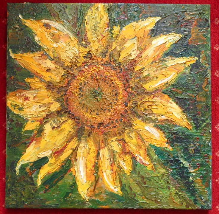 Marko Sapiolko oil canvas 40x40 cm ''sunflower''