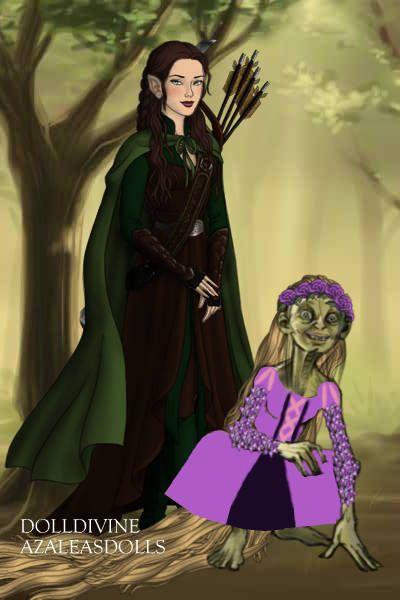 Gollum as Rapunzel and me. ~ LotR Hobbit