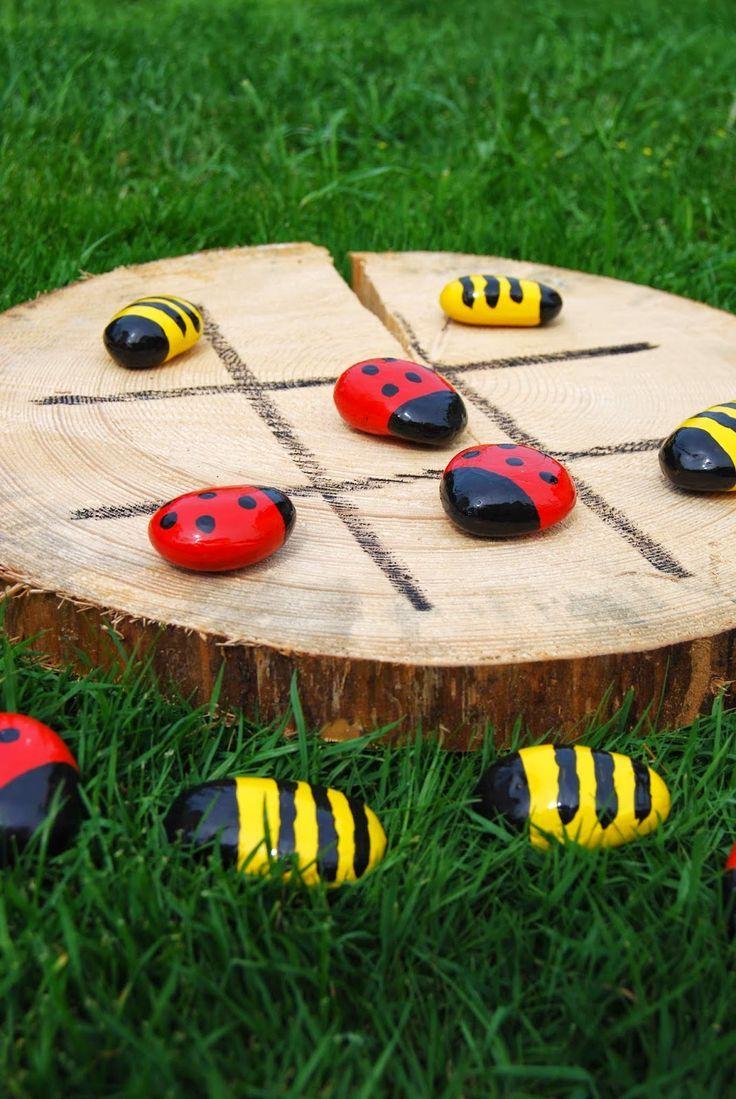 """Taburettli: """"Drei gewinnt"""" für draußen. Kreative Idee für deinen nächsten Kindergeburtstag im Freien"""