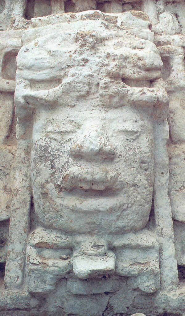 "Lamanai (from Lama'anayin, ""submerged crocodile"" in Yucatec Maya) is a Mesoamerican archaeological site, and was once a considerably sized city of the Maya civilization, located in the north of Belize."