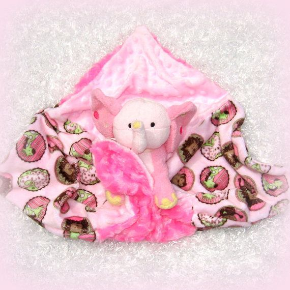 The 53 best personalized tag blankets images on pinterest tag personalized plush elephant with lovey tag along security blanket with stuffed toy gray pink polka dots mink unique baby girl gift negle Gallery
