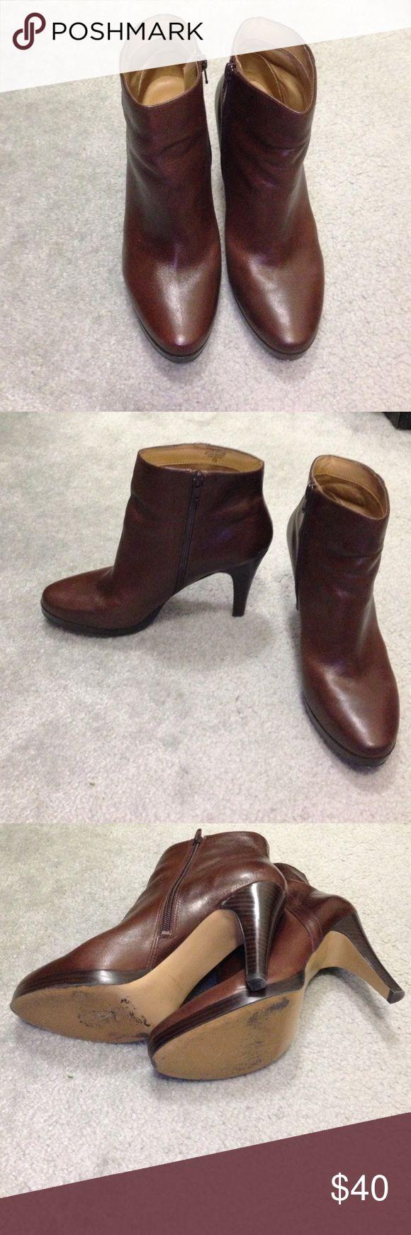 NINE WEST booties Dark brown. 4 in heel Nine West Shoes Ankle Boots & Booties