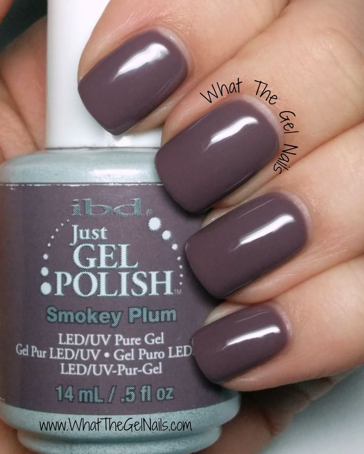 Gel Nail Polish Colors: IBD Smokey Plum, Plus More IBD Just Gel Colors.