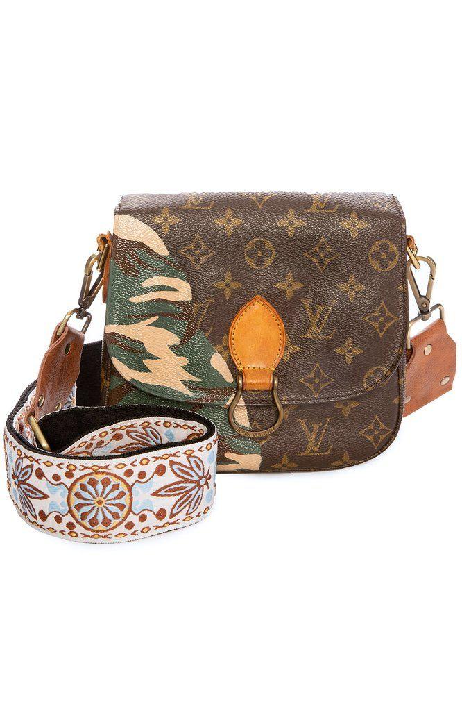 da1d79da3858 Vintage LV Saint Cloud GM Camouflage Crossbody Bag