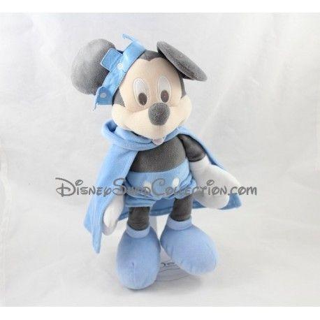 Peluche Mickey DISNEY STORE Petit prince bleu couronne année 2014