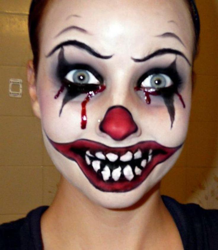 scary clown makeup   Essa maquiagem de Halloween é uma das que eu acho mais perturbadora ...