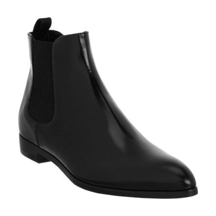 Prada Pointed Toe Chelsea Boot Sale up to 70% off at Barneyswarehouse.com... Someone with a 7.5 foot, please buy these!