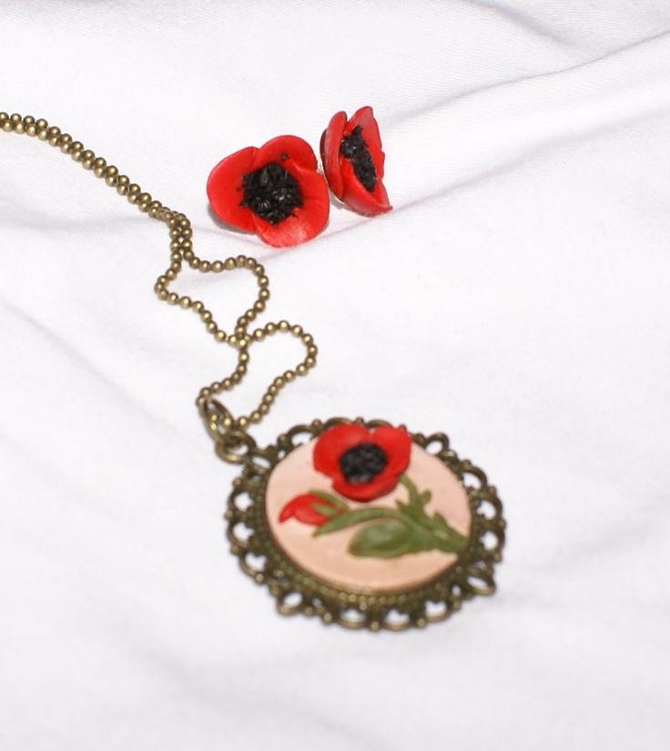 poppies <3 - hand made jewellery