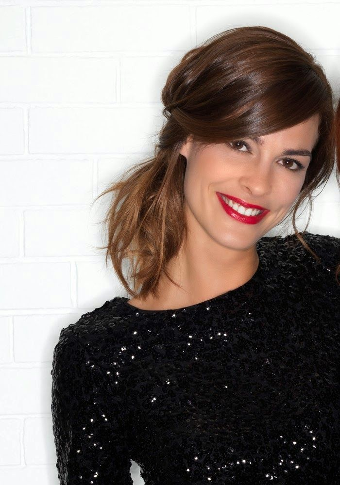 trend, feestkapsel, party hairstyle, Kerst, rode lippen, make-up