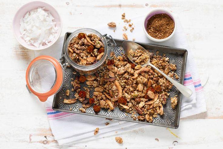 Kijk wat een lekker recept ik heb gevonden op Allerhande! Hartige granola