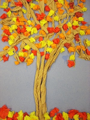 fourth & fifth grade trees - just beautiful!
