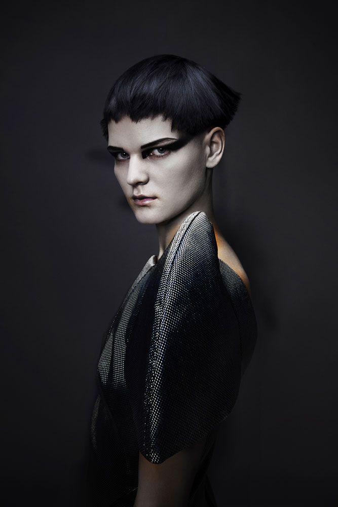 Saco Dark Star Collection Hair: Saco Creative Team led by Richard Ashforth  Photos: Dorothee Murail  Makeup: Marco Antonio  Clothing: Tania Zekkout  Styling: Michelle Kelly