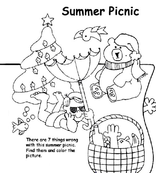 Can You Spot What Doesnt Belong On This Summer Coloring Page