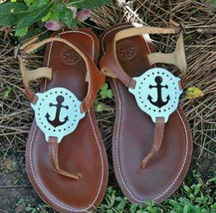 Tory Burch anchor sandals                                                                                                                                                     More