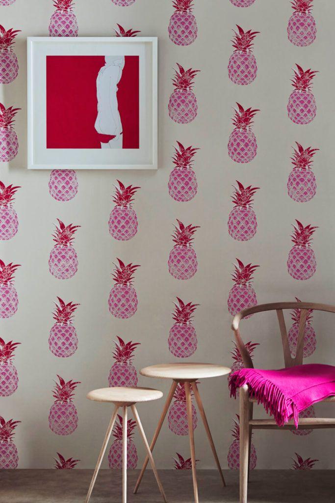 Fun wallpaper home decor