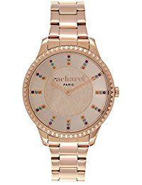 Cacharel - CLD 035/2TM - Montre Femme - Quartz Analogique - Cadran Rose - Bracelet Acier plaqué Rose