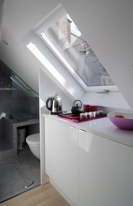 Paris attic Apartments | Tiny Apartment in Paris What. GAHHHHHHHHH. LOVE. LOVE.