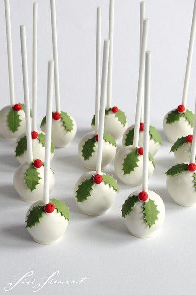 Holly Cake Pops