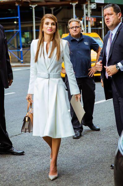 La reine Rania de Jordanie à New York, le 27 septembre 2015