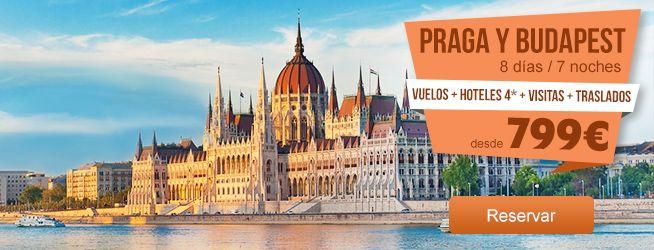 #PRAGA Y #BUDAPEST 8 DIAS/7 NOCHES DESDE 799 EUR. VUELOS + HOTELES 4* + VISITAS + TRASLADOS Precio desde, por persona en base a habitación doble, para varias salidas en septiembre y octubre de 2014 desde Bilbao. Oferta sujeta a disponibilidad.  #OfertasDestinia #DestiniaTravelDeals