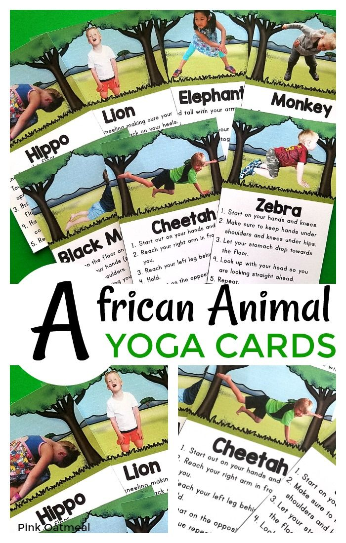 African Animal Themed Yoga With Real Kids Pink Oatmeal