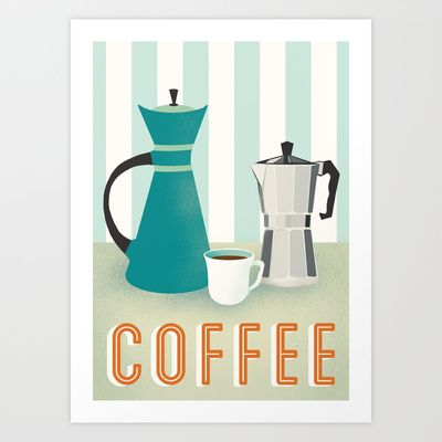 Coffee Art Print by Jenny Tiffany - $18.00