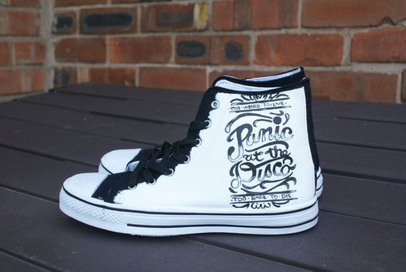 Panic at the disco hand painted canvas high tops by ...