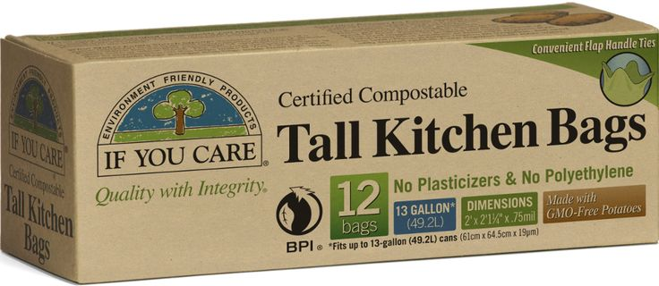 ✅ If You Care Compostable Tall Bin Bags - 49L - 12 Bags   Ethical Superstore £4.95
