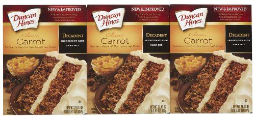 Duncan Hines Moist Deluxe Decadent Carrot Cake Mix 2045 oz 3 pk * Find out more about the great product at the image link.(This is an Amazon affiliate link and I receive a commission for the sales)