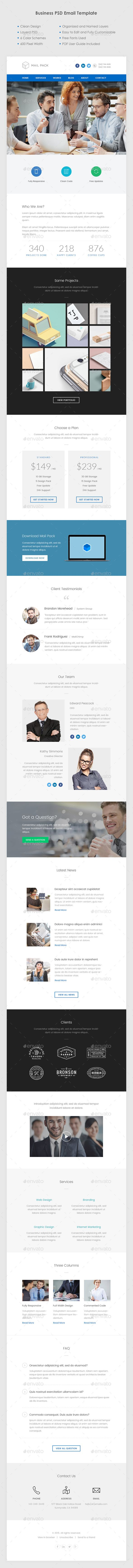 Business Email Template PSD. Download here: http://graphicriver.net/item/business-email-template-psd/13069441?ref=ksioks